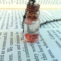 Anatomical Brain - Creepy Jewelry - Anatomy Jewelry - Nerd Jewelry - Miniature Glass Vial Necklace - Science Jewelry - Geek Jewelry - Zombie
