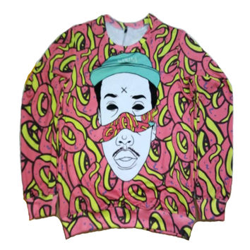 Real American Size Odd Future Fashion 3D Sublimation Print Sweatshirts Crewneck plus size