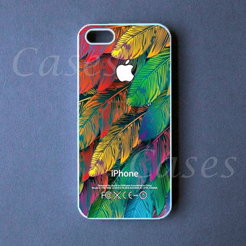 Iphone 5 Case  Colorful Leaves Iphone 5 Cover   PRE by DzinerCase