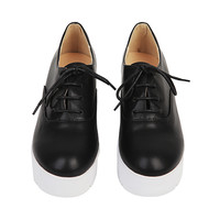 Block Heel Oxford Shoes