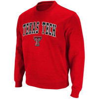 Texas Tech Red Raiders Arch Logo Crew Sweatshirt – Scarlet