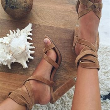 Averly Heels - Sand - SABO SKIRT