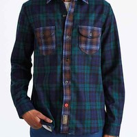 CPO X Pendleton Mixed Blackwatch Button-Down Shirt- Green
