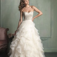 Allure Bridals 9110 Ruffle Ball Gown Wedding Dress