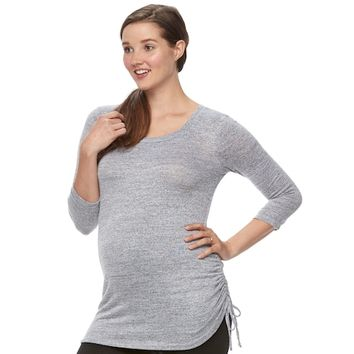 Maternity a:glow Drawstring Tee