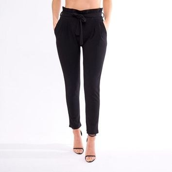Black Lotus Leaf Trousers