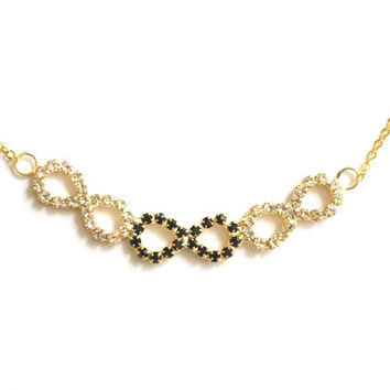 Infinity with Rhinestone Necklace