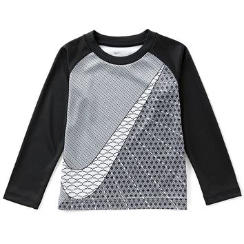 Nike Little Boys 2T-7 Swoosh Raglan-Sleeve Sublimation-Print Tee | Dillards