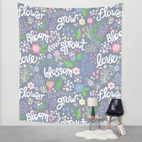 How Does Your Garden Grow Wall Tapestry by Noonday Design   Society6