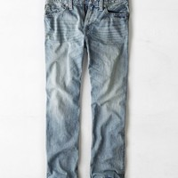 AEO Men's Relaxed Straight Jean (Light Resin Worn)