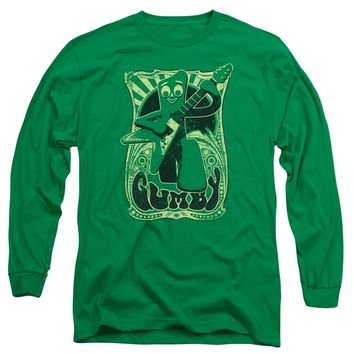 Gumby - Vintage Rock Poster Long Sleeve Adult 18/1 Officially Licensed Shirt