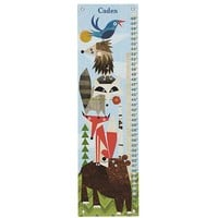 Personalized Woodland Animals Growth Chart