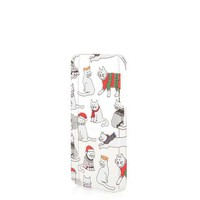 Christmas Cat 5/5S iPhone Case