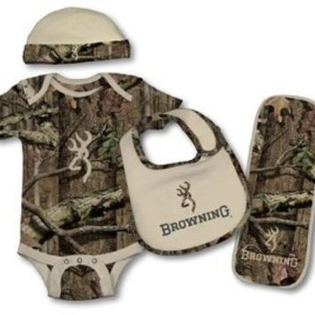 Browning Baby Camo Set 9 Month Old - Light Pink