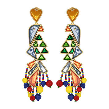 Tory Burch Parrot Statement Earrings Multi/Vintage Gold - Zappos.com Free Shipping BOTH Ways
