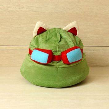 LOL Teemo Plush Hat lol Great quality Cosplay for Gamer Chirstmas gift