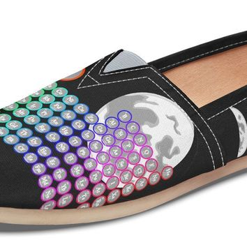 Periodic Table Moon Phase Casual Shoes