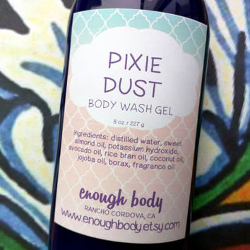 Pixie Dust Body Wash Gel ~ Shower Gel ~ Liquid Body Soap ~ Body Shampoo