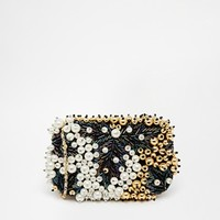 ASOS Pearl and Bead Embellished Box Clutch