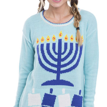 Light Up The Night Ugly Hanukkah Sweater