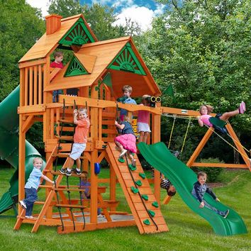 Gorilla Playsets Great Skye I Wooden Swing Set