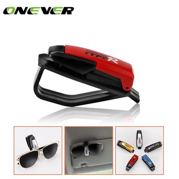 Onever Auto Fastener Cip Auto Accessories Car Vehicle Sun Visor Sunglasses Eyeglasses Glasses Ticket Holder Clip Color Random
