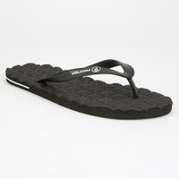 Volcom Recliner Mens Sandals Black  In Sizes