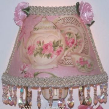 Pink Beaded Teapot Nightlight