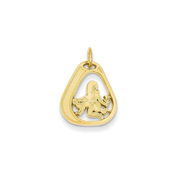 14k Yellow Gold Virgo Charm