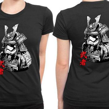 DCCKG72 Star Wars Samurai Troop 2 Sided Womens T Shirt