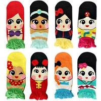 HQ 2017 Autumn New Personalized Women Princess Cute Cartoon Adults Cotton Ankle Socks Low Cut Socks Kawaii Pattern Socks DYY1861