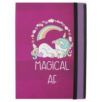 "Humorous Unicorn Magical AF on Pinkish Red Pattern iPad Pro 12.9"" Case"