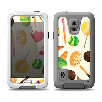 The Delish Treats Color Pattern Samsung Galaxy S5 LifeProof Fre Case Skin Set