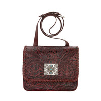 Grand Prairie Crossbody Flap Bag - Crimson Red