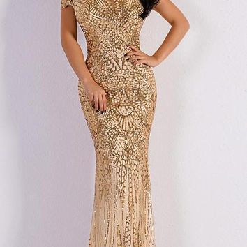 Elegant and sexy formal/party sequin maxi dress