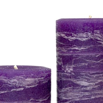 Purple Pillar Candle | Amethyst Rustic