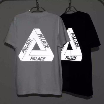ONETOW New Men's 3M Reflective Palace Skateboards T Shirt Good Quality 100% Cotton Hip Hop Palace T-Shirt Men Palace Tee Tshirt