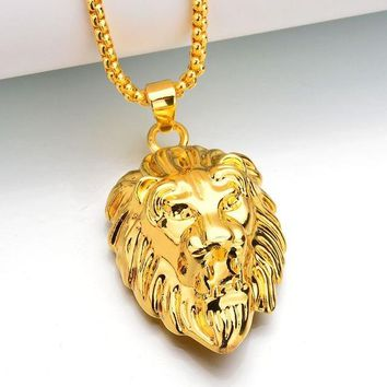 Lion Necklace & Pendant Long Chain Necklaces Jewelry