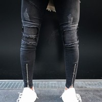 Ripped Holes Fashion Jeans [10869556675]