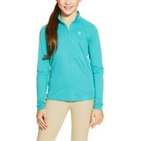 Ariat Girls Sunstopper 1/4 Zip Shirt - Bluebird