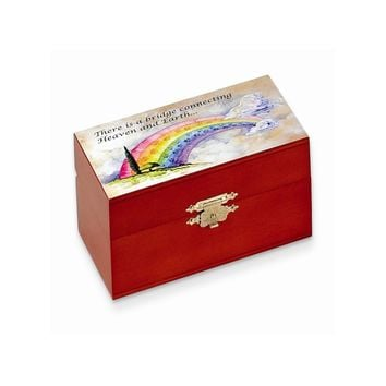 Small Rainbow Bridge Wooden Box - Perfect Religious Gift