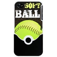 Softball iPhone 4/4S Slider Case on CafePress.com