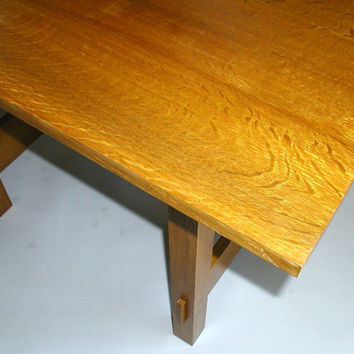 lunch table, adapted stickley no 647