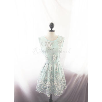The Great Gatsby Mint Seafoam Light Blue Breakfast at Tiffanys Roaring 20s White Silver Sequin Floral 1920s Embroidery Long Tunic Dress