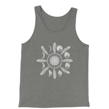 White Dreamcatcher Moon Phases Jersey Tank Top for Men