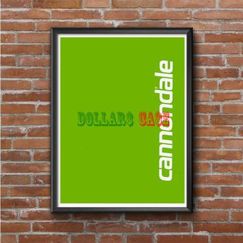 Cannondale Bike Team Bicycle Cycling Logo Photo Poster