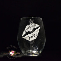 Sassy and classy engraved wine glass, Etched wine glass, Wine glass, Custom wine glass, Stemless wine glass, Wine gifts, Wine lovers