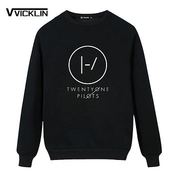 Twenty One Pilots Logo Men Women Winter Top Print Fleece Hoodies Sweatshirt Hip Hop Rap Tour Skatboard Hot More size and color