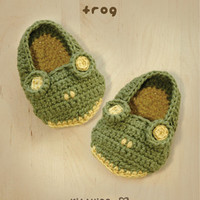 Frog Baby Booties Crochet PATTERN, .. on Luulla