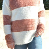 Dearly Loved Striped Sweater - Off White